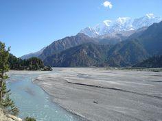 Nepal yoga right beside the sacred Kali Gandaki river