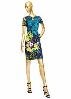 "Versace Women ""Wild Patch"" Jersey Mini Dress"