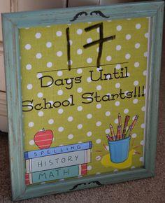 Angela's Adventures: Back to School Countdown Printable