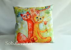 Hey, I found this really awesome Etsy listing at https://www.etsy.com/listing/222830019/cushion-cover-cat-throw-pillow-cats