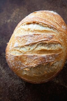 Homemade rustic bread recipe.
