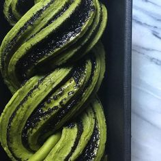 Matcha Black Sesame Babka via @feedfeed on https://thefeedfeed.com/jesseszewczyk/matcha-black-sesame-babka