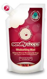 Scruffy Chops is a pet product brand that mainly sells shampoos and conditioners for dogs. All their products are cruelty free and vegan. They're certified by the Vegan Society.