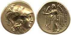 Gold Coin (Sater) of Athena with Nike on the reverse - 225-190 BC - Greek Source: The British Museum