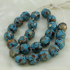 Other Loose Beads 179275: Jewelry Findings 22Pcs Turquoise Faceted Round Beads 9.50Mm BUY IT NOW ONLY: $52.48