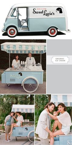 Sweet Lucie's Organic Ice Cream (Los Angeles, California). Love the retro feel. Truck & Cart rentable in the LA area.