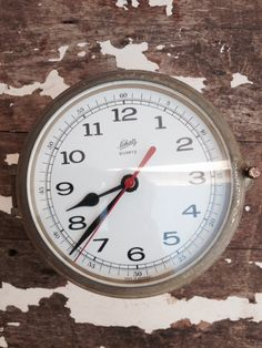 Marine Ship Clock Schatz  Made in by SouthamptonVintage on Etsy