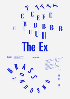 It's Nice That : Cracking set of typographic gig posters from Todeschini Mamie