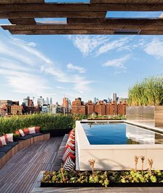 """""""What's better than a rooftop pool? One that can be heated to 104 degrees for a mid-January dip."""" http://nymag.com"""