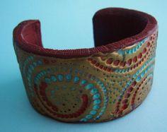 Goddess polymer clay cuff bracelet by adrianaallenllc on Etsy