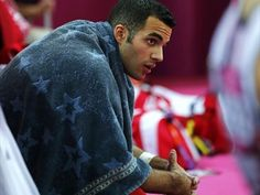 Danell Leyva and his hilarious lucky towel :)