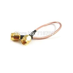 1pcs Extension Cord SMA Connector Antenna WiFi Pigtail Cable Sma Male to Male RG316 15cm