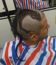 Rattail + Mohawk + some creative shaving = Awesome iguana hairdo