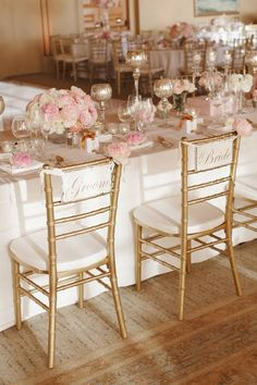 A Timeless Blush-and-Gold Wedding in California : Brides