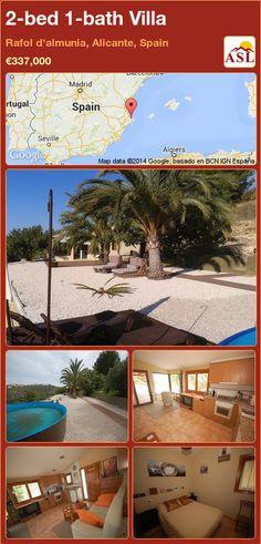 2-bed 1-bath Villa in Rafol d'almunia, Alicante, Spain ►€337,000 #PropertyForSaleInSpain