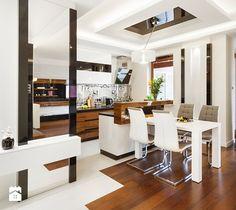Aranżacje wnętrz - Jadalnia: Apartament 50 m.kw w palisandrze - Średnia otwarta jadalnia w kuchni, styl nowoczesny - ARCHITETTO. Przeglądaj, dodawaj i zapisuj najlepsze zdjęcia, pomysły i inspiracje designerskie. W bazie mamy już prawie milion fotografii!