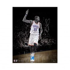 """KEVIN DURANT Autographed 16x20 """"The One"""" Photograph Unframed PANINI LE 35 - Game…"""