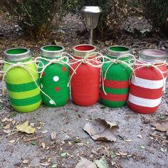 Christmas Mason Jars by ThisIsElevenEleven on Etsy