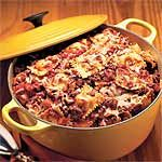 One-Pot Pasta Recipe | MyRecipes.com Suggestions form reviewers:  add black olives, grated carrots, zucchini, etc. Also, they say frozen ravioli works too.