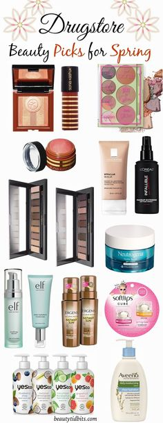 From hydrating moisturizers to bronzed makeup palettes, @beautytidbits rounds up her beauty picks for spring! http://beautytidbits.com/2015/03/best-drugstore-beauty-products-spring-2015/