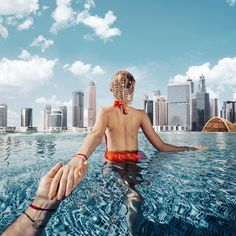 Follow me to the infinity pool and skyscrapers