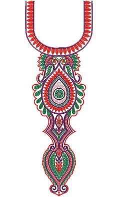 10262 Neck Embroidery Design