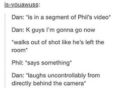 """That's when you're like """"gee Dan you sure went far"""""""