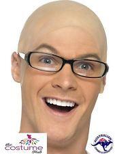 Funny Fake Bald Head Skinhead Baldy OLD MAN Baldy Head Wig Cap Clown Mens Ladies
