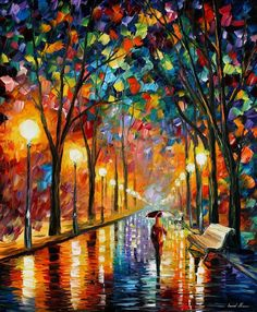 Beautiful Vividly Colored Landscapes and Paintings by Leonid Afremov- BEFORE THE CELEVRATION