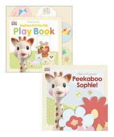 Sophie la Girafe Play Book & Peekaboo Sophie Board Book Set