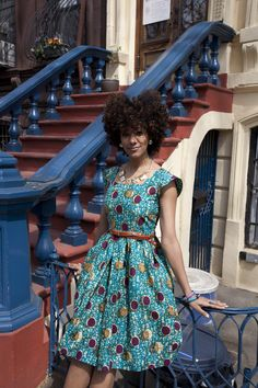 This girl is rocking the natural look and a beautiful ankaara dress