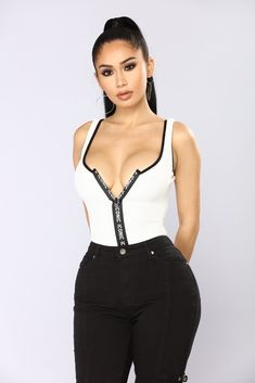 c82b3f5760b7fc Life Is Good Bodysuit - White Combo. fashionnova.com