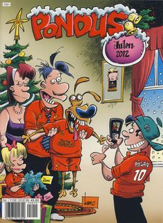 Cover for Pondus Julehefte (Egmont Serieforlaget, 2007 series) Vintage Comic Books, Vintage Comics, Christmas Comics, Comic Book Characters, Cover, Art, Art Background, Kunst, Performing Arts