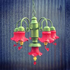 My new repurposed chandelier hummingbird feeder i embellished with hummingbird feeder chandelier made by yours truly for a sweet friend diyer mozeypictures Gallery