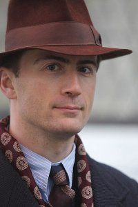"""Anthony Howell, the stylish Mr. Millner from """"Foyle's War.""""  A great singer too apparently.  http://www.imdb.com/name/nm0397928/bio?ref_=nmmi_bio_bio"""