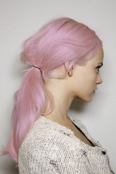 Pink pastel cotton candy hair