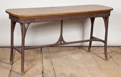 Arts & Crafts Wicker Hall Table