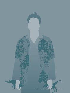 """Hoban """"Wash"""" Washburne Firefly 8x10 minimalist poster blue. $20.00, via Etsy."""