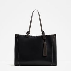 ZARA - COLLECTION SS16 - TASSELLED LEATHER TOTE