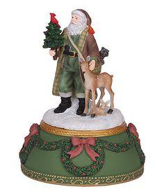 Another great find on #zulily! Woodland Santa Musical Figurine #zulilyfinds