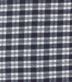 Flannel Shirting Cotton Blue White