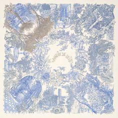 "hermes: Cashmere and silk shawl ""Le Jardin de Leïla"""