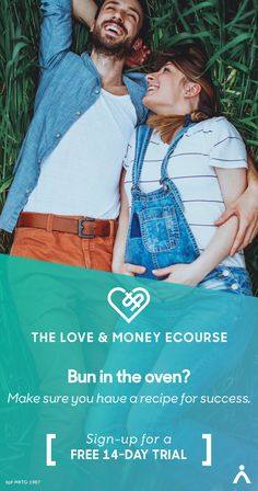 Stop stressing about the baby budget. Our Love & Money eCourse can help you and your spouse get on the same page about  money. Get the free trial!