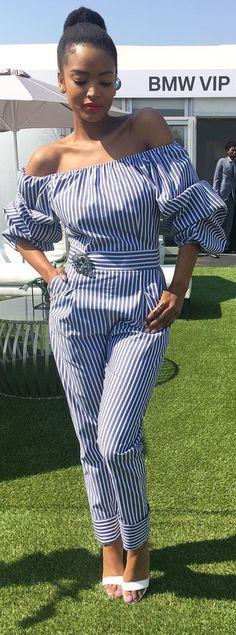 Striped Jumpsuit by @stylealertsa // Fashion Trend by Ayanda Thabethe