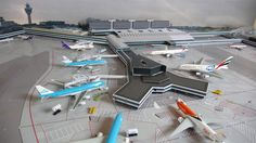 No Point Airport - Diorama Airport EHAM (Amsterdam) series, look-a-like!