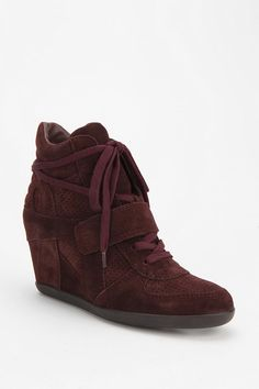 Ash Suede Bowie High-Top Wedge-Sneaker Online Only