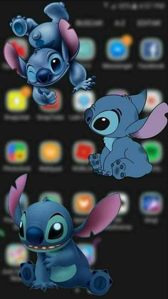 Disney Phone Wallpaper, Cartoon Wallpaper Iphone, Cute Wallpaper For Phone, Cute Wallpaper Backgrounds, Pretty Wallpapers, Cute Cartoon Wallpapers, Aesthetic Iphone Wallpaper, Disney Stitch, Lilo Stitch