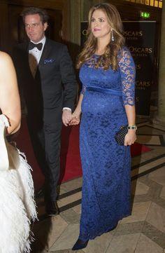 19 December 2013 - Swedish Royal Family Celebrates Queen Silvia's 70 Birthday - dress by Tiffany Rose