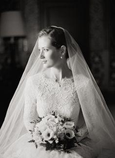 Classic Lace wedding dress, so elegant.