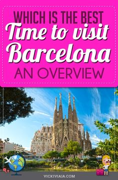 Wether you want the perfect beach vacation, as few tourists as possible or a simply more affordable trip - we got you covered: The best time to visit Barcelona for every type of traveler - recommended by a local #Vickiviaja Barcelona In Winter, Visit Barcelona, Barcelona Travel, Sitges, Spain Travel Guide, Travel Guides, Travel Tips, Europe Destinations, Travel Information